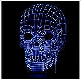 Cabeza Del Cráneo Traición 3D Lámpara Usb Usada Terror Tema Decoración Del Partido Regalo...