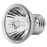 Fdit Bombilla Luz de Calor Lámpara de Luz de Calefacción para Reptile Anfibio(25W)