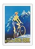Pacifica Island Art con la Bicicleta de Tela Real - Póster publicitario c.1910 - Impresión de Arte en Lienzo 69x102cm