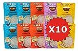 Miracle Noodle Pasta Shirataki di Konjac, Nuova Generazione, Subito Pronti, Scatola assortita da 10 pacchetti da 200g cad.(contiene: 3 Spaghetti, 3 Fettuccine, 2 Penne e 2 Riso)