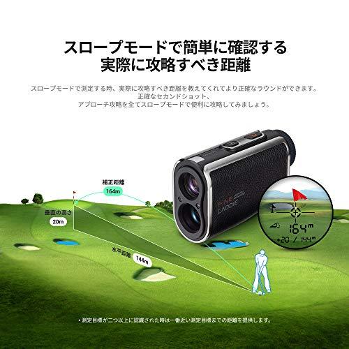 ファインキャディJ100ゴルフ距離計測定器ゴルフレーザー距離計距離測定器1000m測定充電式高低差測定スロープモードON/OFF可能IPX4防水超軽量161g6倍率広視野角ケース付き保証2年メーカー直営FineCaddie