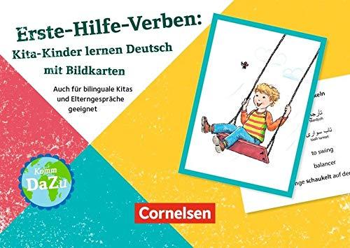 Deutsch lernen mit Fotokarten - Kita / Erste-Hilfe-Verben: Auch für bilinguale Kitas und Elterngespräche geeignet. 100 Bildkarten