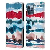 Head Case Designs Licenza Ufficiale Ninola Rosso Nautico Soffice Linee Astratte Cover in Pelle a Portafoglio Compatibile con Apple iPhone 12 PRO Max