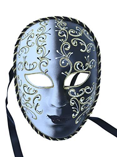 ML Mascara de Disfraces para Carnaval para Mujer Veneciana con Purpurina Luna briillante Party Ball Carnaval Mascarada Bola de fantasía