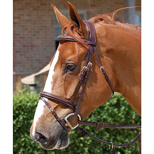 PAHRU Dauerhaft Dreiecks zügel, Hochwertiges Rindsleder Rutschfest Verdicken Benutzt Für Pferderennen