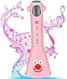 TOSING Wireless Karaoke Microphone for Kids, Top Birthday-Gifts for Girls, Best Present Toys for Kids Girls 4 5 6 7 8 9 Years Old, for 10 11 12 Yrs Teenager, Bluetooth Karaoke Machine,Voice Changer