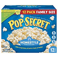 Made from our secret recipe. Just a sprinkle of salt and that beautiful buttery taste Pop up delicious warm popcorn with an irresistible aroma and flavor, ready in minutes 100% whole grain; Non-GMO corn, 0g trans fat, No sugar added At Pop Secret, we...