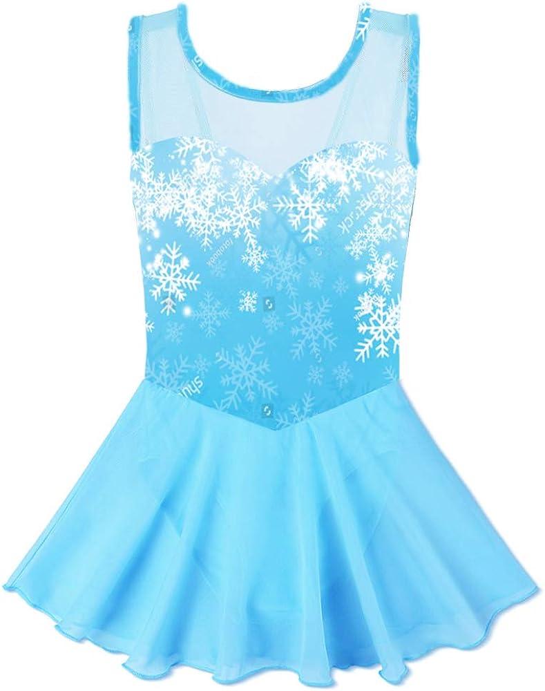ZNYUNE Girls Flake of Snow Skirted Dre Tutu Ballet El Max 52% OFF Paso Mall Dance Leotard
