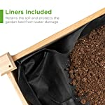 Best Choice Products Raised Garden Bed 48x24x32-inch Mobile Elevated Wood Planter w/Lockable Wheels, Storage Shelf… 12 EASY MOBILITY: Built with a set of locking wheels to move the planter from place to place and capture the right amounts of sun and shade ERGONOMIC STRUCTURE: Stands 32 inches tall, making it perfect for those who struggle to bend down or lean over while gardening GARDEN BED LINER: Separates wood from the soil, keeping planter in excellent condition and preventing weeds and pests from interfering with plant growth