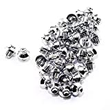 RTRHINOTUNING 50pcs Chrome Silver Universal Wheel Rim Lip Rivets Nuts Replacement of Hole 8mm/0.31in