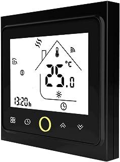 Qiumi Termostato Wifi para calefacción individual de calderas de gas/agua funciona con Amazon Alexa, Google Home IFTTT, Co...