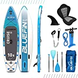 Bluefin Standup Paddle Cruise Carbon de Paddle Board Gonflable Sup | Épais de 15cm | Pagaie & Rail en Carbone | Kit de...