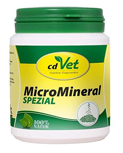 cdVet Naturprodukte MicroMineral Spezial 150 g - Hund, Katze, Pferd - Vitamin- Mineralstoff- und Spurenelementgeber - Magen-Darm Regulation - Eisenquelle - Zellschutz - Muskelaufbau - Vitalität -