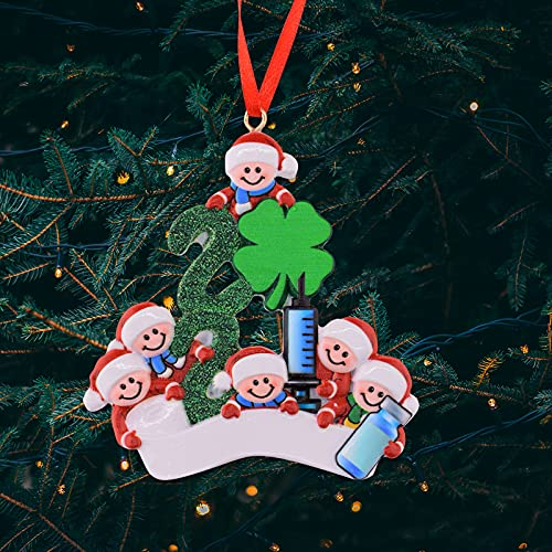 decorazioni natalizie famiglia HAOXIU Decorazioni natalizie 2021 per la famiglia di sopravvivenza personalizzata