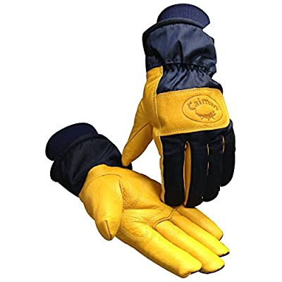 Caiman Heatrac Insulated Gloves Gold Pig Grain with Combo Cuff