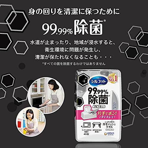 ユニチャーム シルコット 99.99%除菌ウェットティッシュ つめかえ用 40枚×8 [2198]