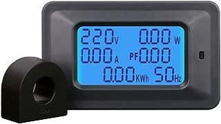KKmoon 100A Medidor de Voltaje Digital Medidor de Energía LCD 5KW Factor de Potencia Medidores de Frecuencia de Energía Amperímetro de Voltímetro Amperios de Corriente Watt Meter Tester Indicador
