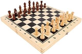 Luckyw Stor spelbräda och förvaring för handgjorda schackdelar i trä