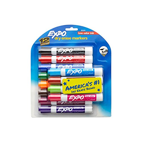 EXPO Low Odor Dry Erase Markers 12 Count Now $8.44 (Was $17.99)