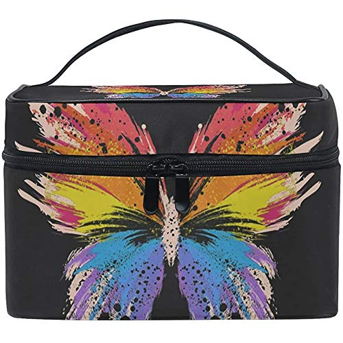 Trousse de Maquillage Hipster Butterfly Travel Cosmetic Bags Organizer Train Case Toiletry Make Up Pouch