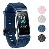 NEWZEROL Ersatz für Huawei Band 3 Pro/4 Pro Armband Schutzband Fitness Tracker-Schnellverschlussriemen für Huawei Band 3 Pro/4 Pro - Blau [Lifetime Replacement Guarantee]