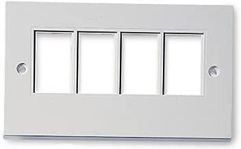 kenable RJ45 Face Plate Wall Socket Quad 4 Port for RJ45 Keystone Jacks