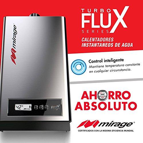 Calentador de agua instantáneo INVERTER para 3 servicios 16 litros por minuto a gas Lp TurboFlux16L,…