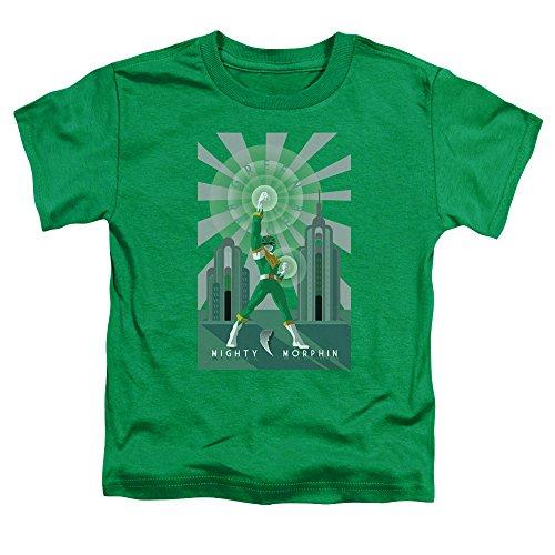 Power Rangers - - Los niños pequeños Ranger Verde de Deco de la camiseta