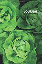 Journal: Lettuce photography Petite Bullet Journal Dot Grid Daily Planner Student for researching self sufficient living on 5 acres