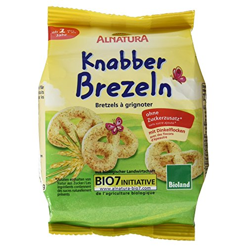 Alnatura Bio Knabber-Brezeln, 8er Pack (8 x 125 g)