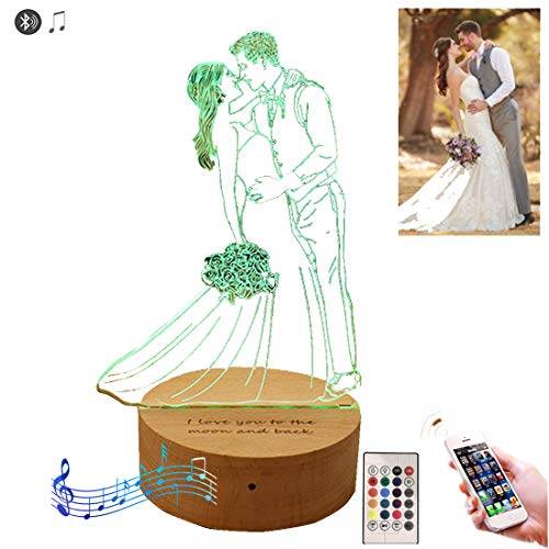 16 Color Personalized Custom Photo 3D Lamp Photo Engraving Custom Text Best Gifts Christmas Birthday Gifts