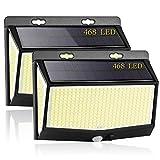 3 Modos Luz Solar Exterior, [2021 Más Brillante Modelo 468 LED Luces...