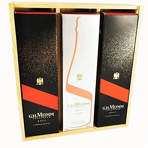 Champagne Mumm - 2 * Cordon Rouge/Rosé in scatola - In scatola di legno