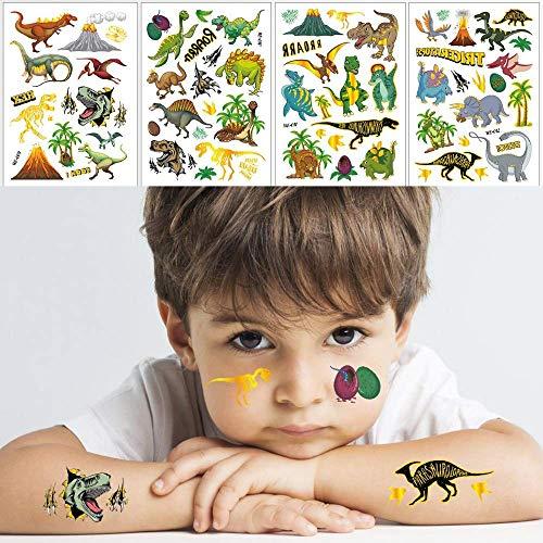 Tattoo Kinder,Kinder Aufkleber,Dinosaurier Temporäre Tattoo Set Aufkleber für Mädchen und Jungen Kinder Geburtstagsfeiern Party Taschen Party Festival