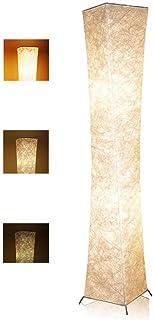 LEONC Design 61'' Creative LED Floor Lamp, Softlighting Minimalist Modern Contemporary with Fabric Shade & 2 Bulbs Floor L...
