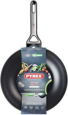 Pyrex RP28BW4 Origin+ Induction Non-Stick Wok, 28cm,Black