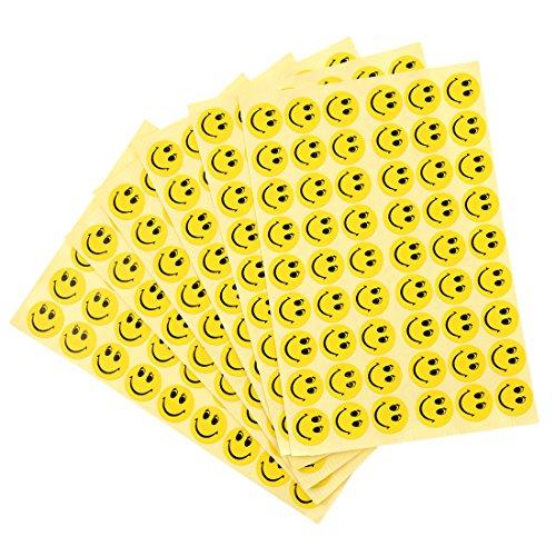 TOOGOO(R) 324 x autocollants de recompense/de motivation utilises dans l'ecole pour les enfants Dessin de visage souriant