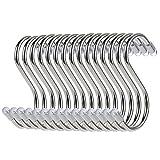 Confezione da 15 Ganci a S in Metallo Resistente a Forma di S, Per Utensili da Cucina, Ufficio, Bagno, Armadio, Officina, Garage, Ufficio, Casa, Set Essenziale