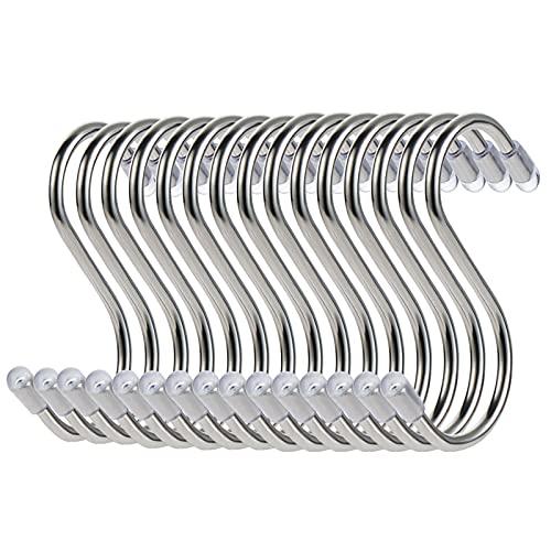 15 Stück S-förmige kleine Haken zum Aufhängen Magnetisch Edelstahl Aufhänger für Zuhause, Büro, Küche, Badezimmer