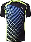 jeansian Herren Sportswear Quick Dry Short Sleeve T-Shirt LSL230 Black S
