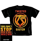 T-Shirt Homme Noir Twisted Sister 'You Can'T Stop Rock N'Roll' (Taille S)