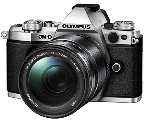 Olympus OM-D E-M5 Mark II Power Kit - Cámara EVIL de 16.1 MP (pantalla táctil de 3', zoom motorizado, estabilizador, WiFi), plata - kit con objetivo 14-150mm, empuñadura HLD-8 y batería BLN-1