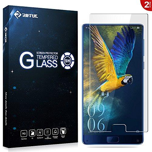 Verre Trempé Elephone S8, Riffue [Lot de 2] Protection écran Film Glass Screen Vitre protecteur anti casse, anti-rayure pour Elephone S8 - [Dureté 9H][3D Touch], Haute-réponse, Haute transparence