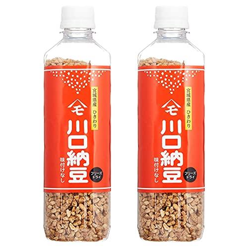 川口納豆 乾燥納豆 180g ×2個 セット 宮城県産大粒大豆使用 フリーズドライ ひきわり ドライ納豆 干し納豆
