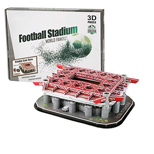 Mikelabo 3D Puzzles For Diy Kids Adults Hardest Jigsaw Puzzle 3D Puzzle Set Model Kits San Siro Stadium Model Ornaments Birthday Present Personalised Ornaments For Bedroom