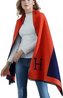 Yiyida Women Shawl Scarf Winter Poncho Capes Wraps H Pattern Shawl Cardigans Scarves Stoles