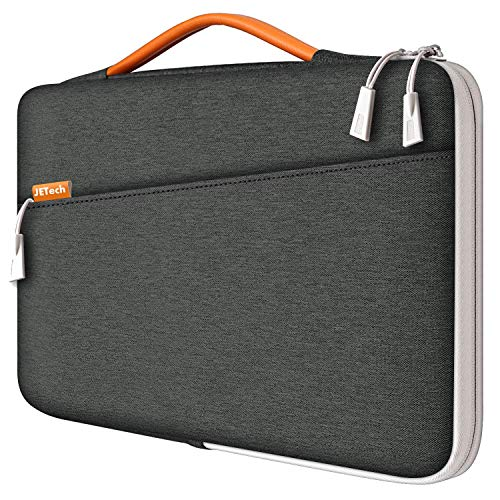 JETech Funda Portátil Impermeable Compatible 13,3' Notebook Tableta iPad Tab con asa Portátil, Sleeve Compatible MacBook Pro 13', MacBook Air, Surface Pro 12.3', Surface Laptop 2017/2018 (Gris Oscuro)