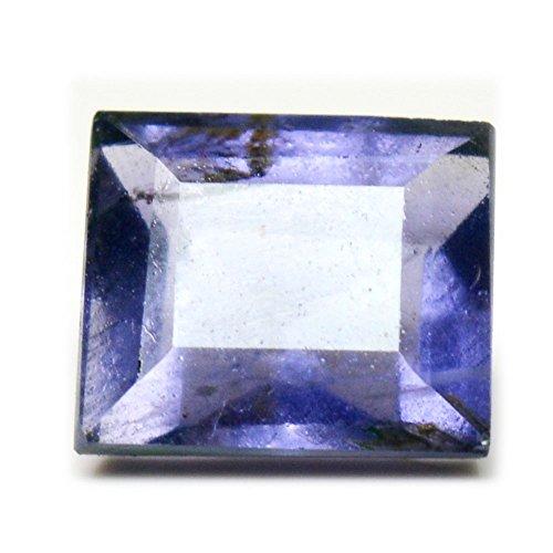 55Carat Iolite Naturales Sueltos facetas de Piedra 3Quilates de Forma Cuadrada Chakra Curación (Precio al por Mayor AAA +