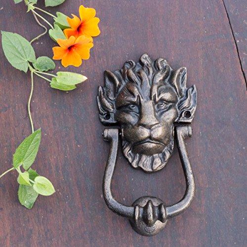 Antikas - Hochwertiger Türklopfer Löwe - Klopfer Haustüren Antikbronze lackiert, Gusseisen
