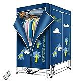 Séchoir 1200w à Linge Portable 66lb vêtements de Linge électriques Etendoir...